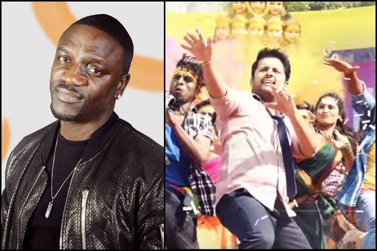 Watch Singer Akon enjoys Pedda Puli song wishes Chal Mohan Ranga team good luck