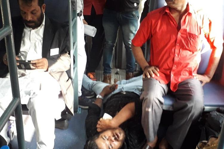 Intoxicated man harasses Kerala women on train for an hour bystanders do nothing