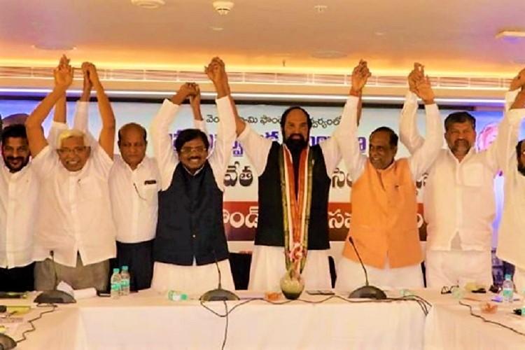BJP and Congress join hands in Telangana to oppose CM KCRs Secretariat plan