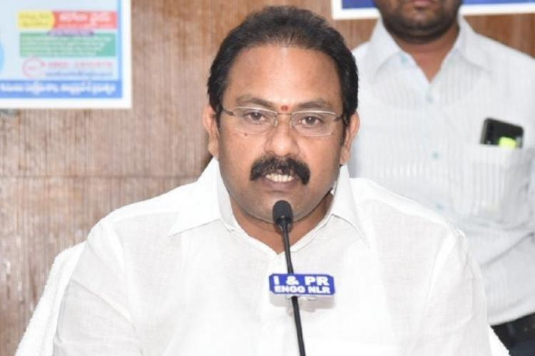 Health Minister AKK Srinivas addressing a pressmeet