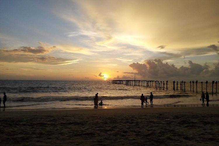 Alappuzha beach during sunrise