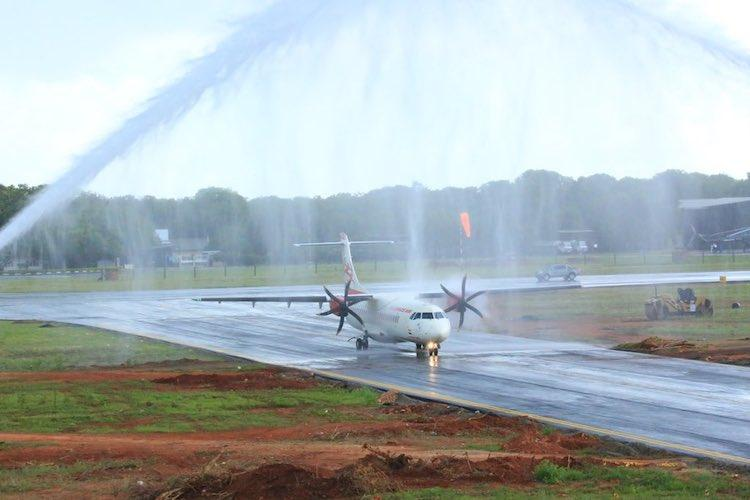 After 50 years Jaffna airport welcomes first flight from Tamil Nadu