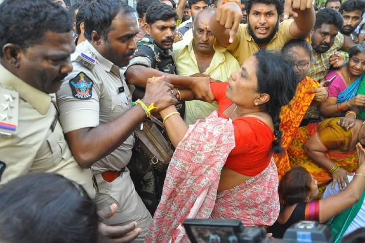 Police action on Amaravati protesters violative of fundamental rights Andhra HC