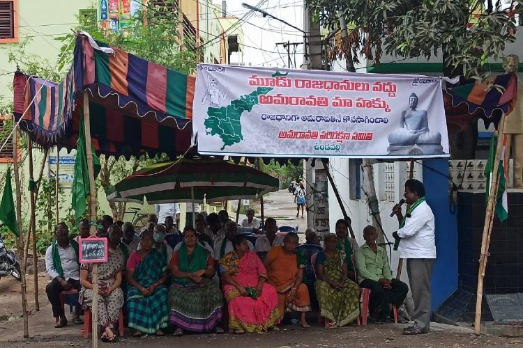 80 days on protests continue in Amaravati despite lesser participation