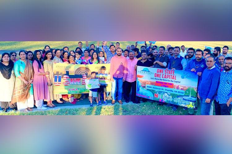 Andhra capital row Telugu community in US holds protest in support of Amaravati farmers