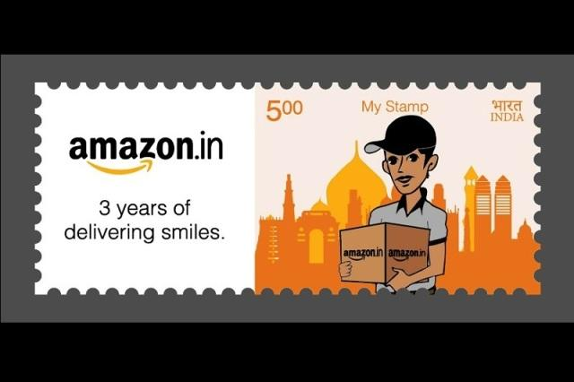 Amazon India gets its own stamp from India Post for third anniversary