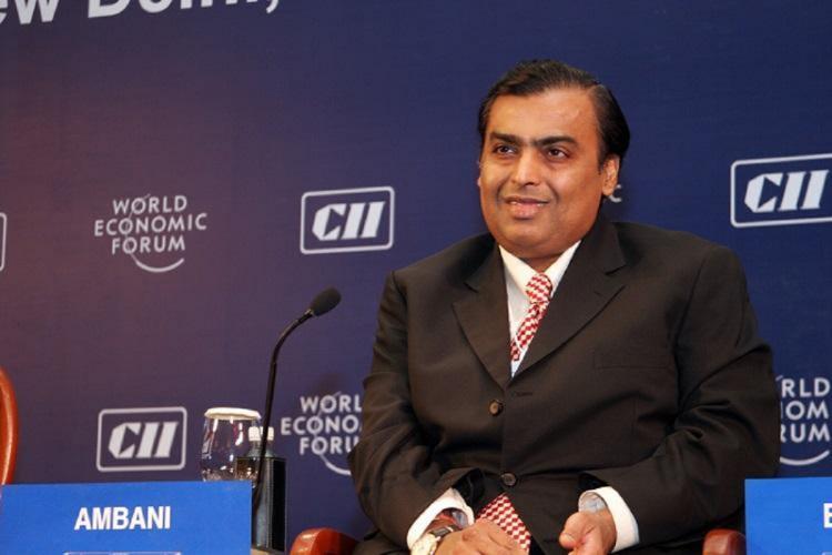 Mukesh Ambani at a CII event