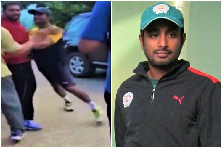 Watch Cricketer Ambati Rayudu gets into scuffle with senior citizen in Hyderabad