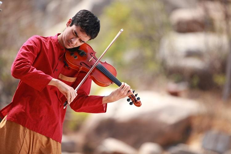 Raagas for the untrained ear A violinists experiments with Carnatic music
