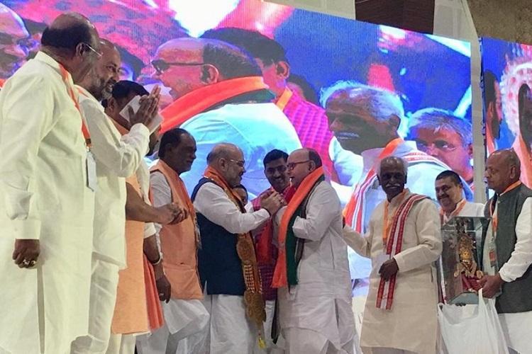 Former Andhra CM Nadendla Bhaskar Rao joins BJP