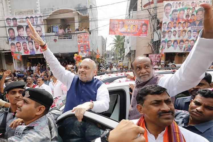 No alliance with KCR in Telangana dare TRS to name Dalit as CM candidate Amit Shah