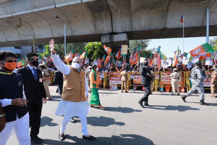 Union Home Minister Amit Shah visits Chennai