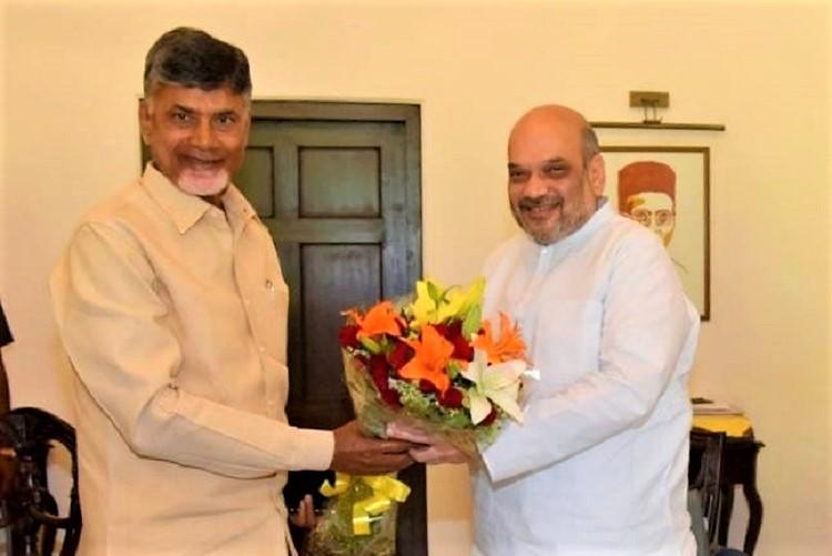 TDP exit from NDA political not for developmental concerns Amit Shah to Naidu