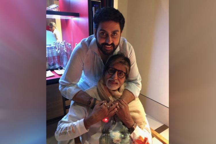 Instagram picture of Abhishek and Amitabh Bachchan