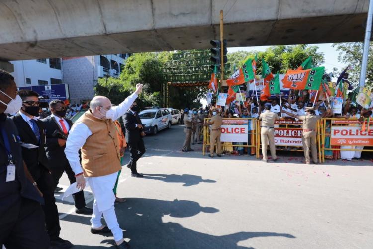Amit Shah visits Chennai