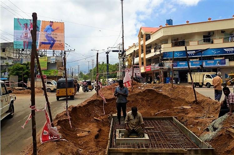 Deep pits and potholes return to haunt Hyderabad citizens as rain lashes city