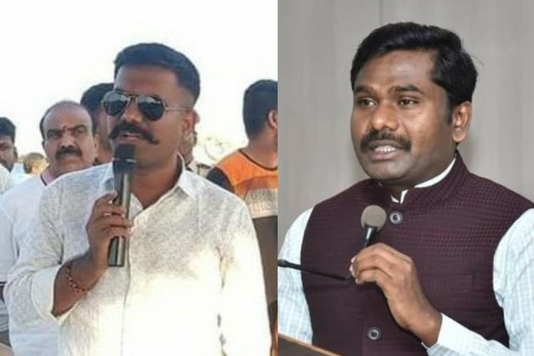 MLA Kethireddy Venkatrami Reddy and Collector Gandham Chandrudu