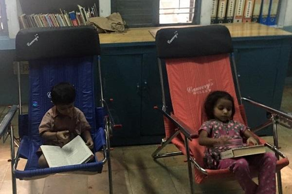 Smitten by books little kids in this Andhra Pradesh town have become bookworms
