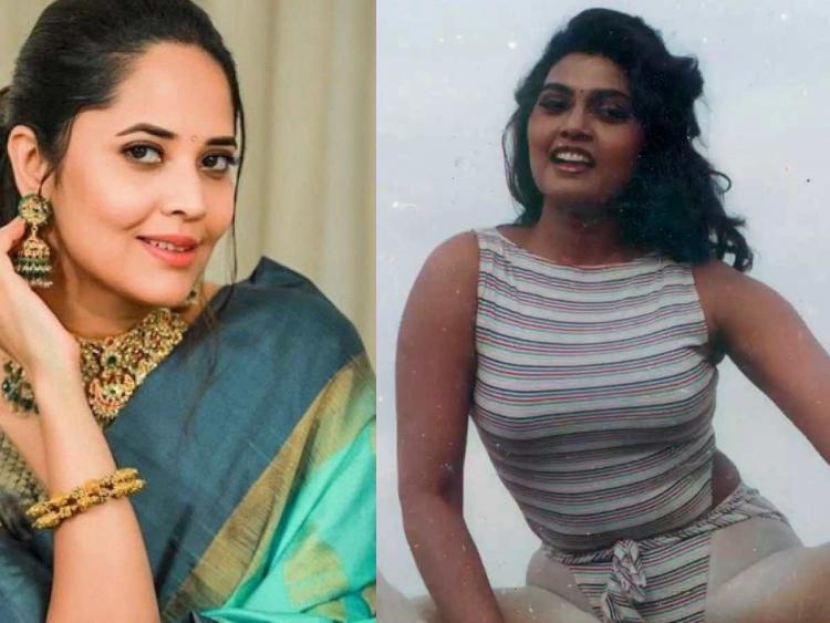 Anasuya Bharadwaj and Silk smitha collage