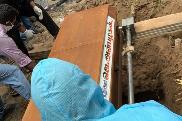 Anbazhagan being laid to rest