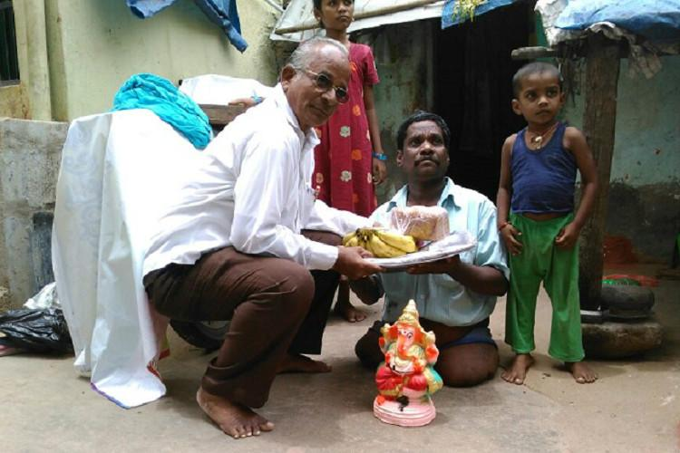 Andhra man whos helped the poor celebrate Ganesh Chaturthi for many years