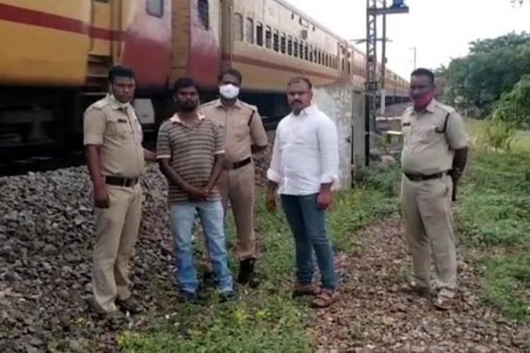 Andhra police save man attempting suicide at railway track
