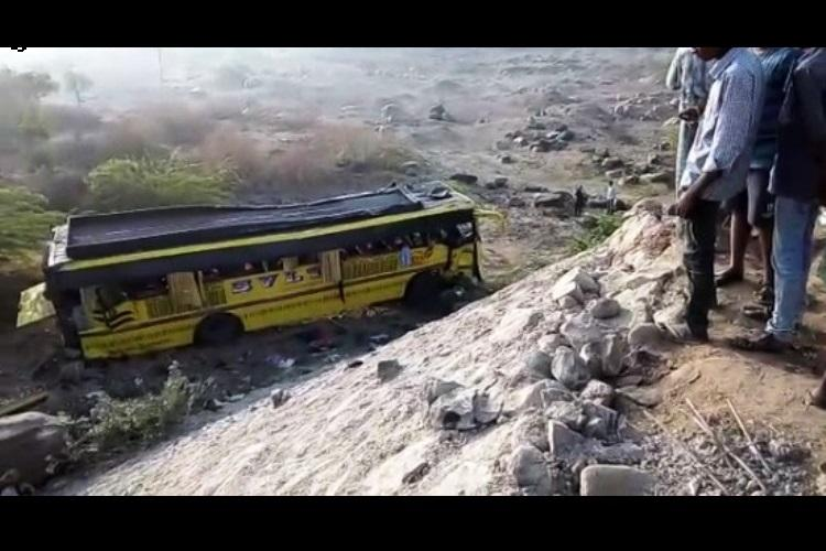 Another bus accident in Andhra, 30 students injured as