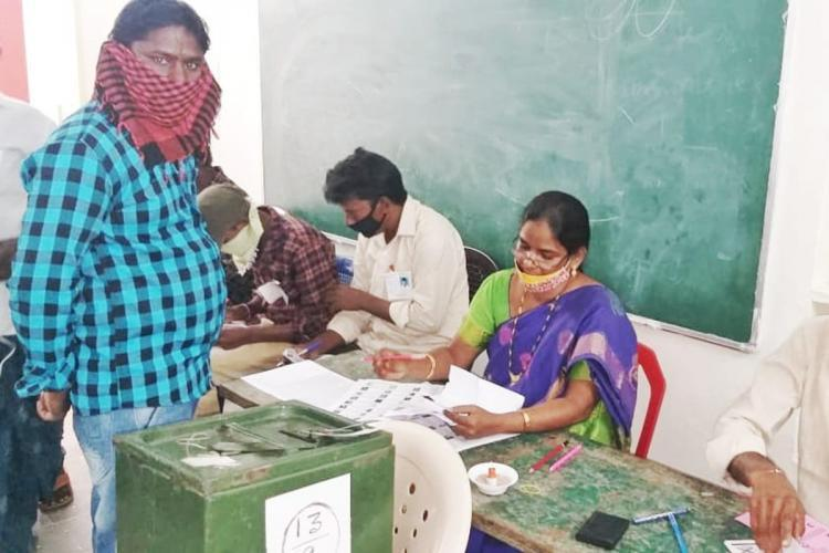An image from recent Urban body polls in Andhra