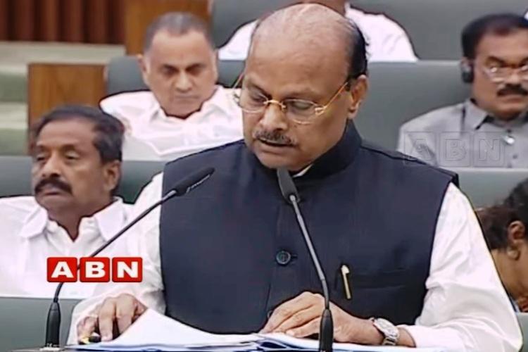 Andhra presents budget of Rs 157 lakh crore allocates Rs 1061 crore for Amaravati