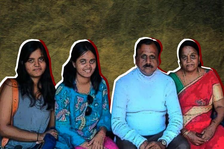 Alekya Sai Divya and their parents Purushottam and Padmaja