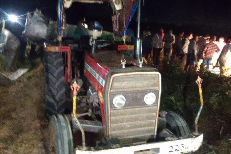 An accident involving a tractor in Andhra Pradesh