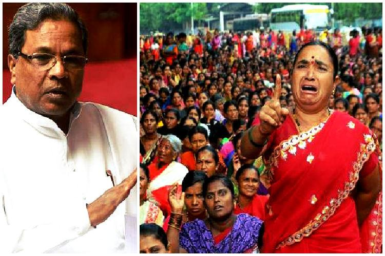 Ruckus in Karnataka Assembly as Congress BJP spar over anganwadi workers protest