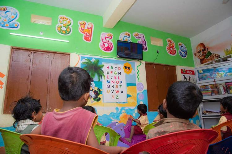 Children in an anganwadi