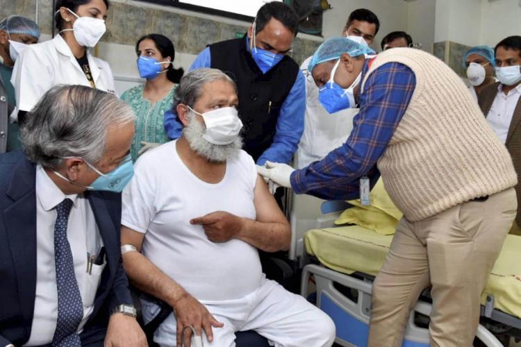 Ambala Haryana Health Minister Anil Vij volunteers in the trials for potential coronavirus vaccine Covaxin at Civil Hospital in Ambala district