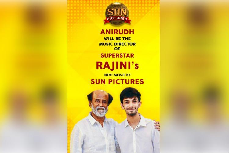 Anirudh Ravichander to compose music for Rajinikanths next flick