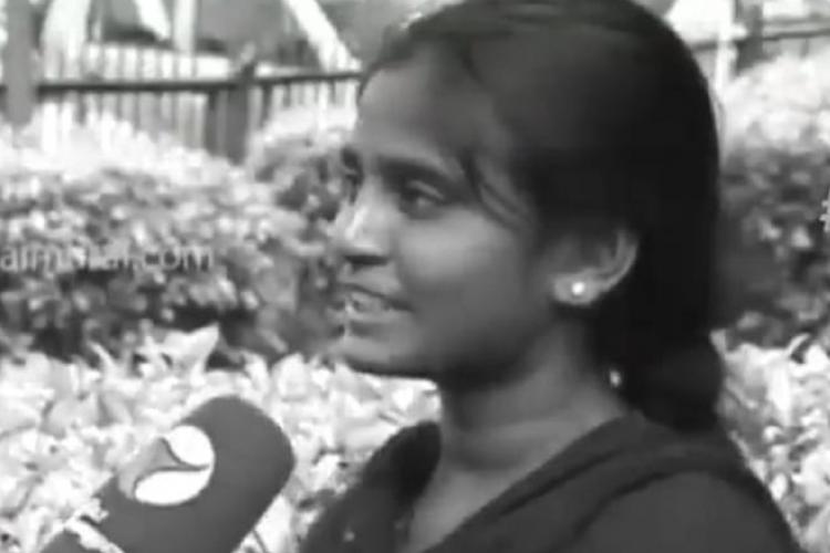 Deceased NEET aspirant Anitha speaking to Tamil channel Puthiya Thalaimurai
