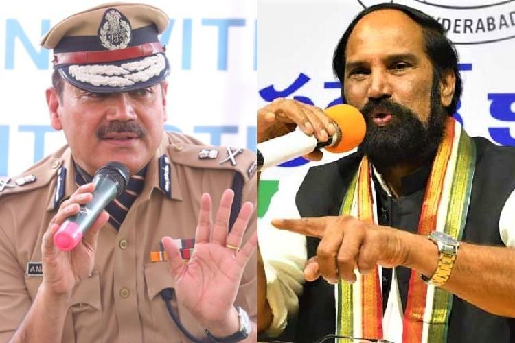 Telangana Cong chief dubs Hyd Commissioner a stooge IPS association condemns him