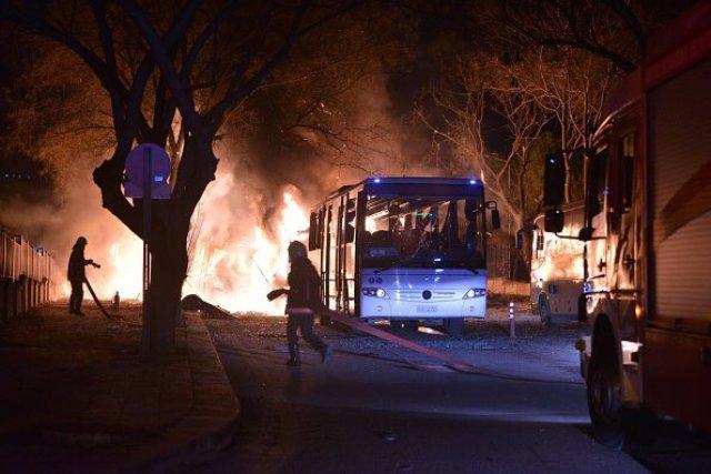 Explosion rocks Turkeys capital of Ankara several casualties and injuries