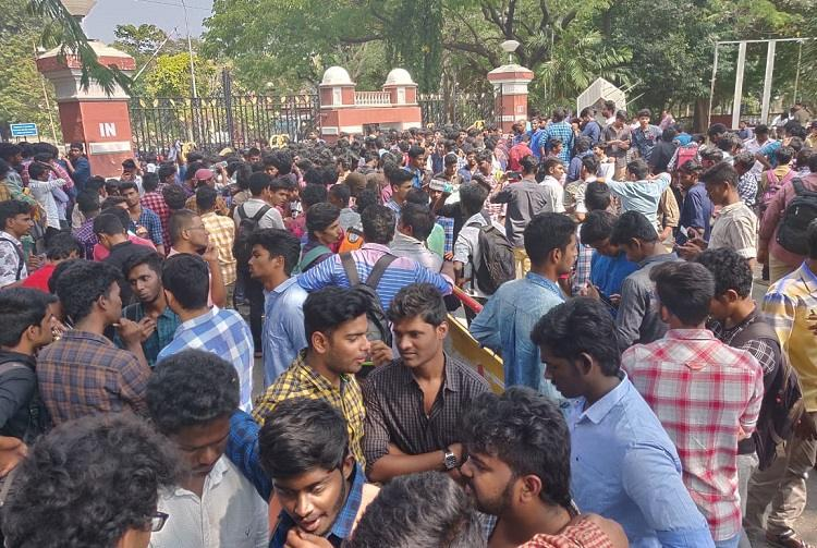 Our careers are getting affected Anna University students protest against arrear rule
