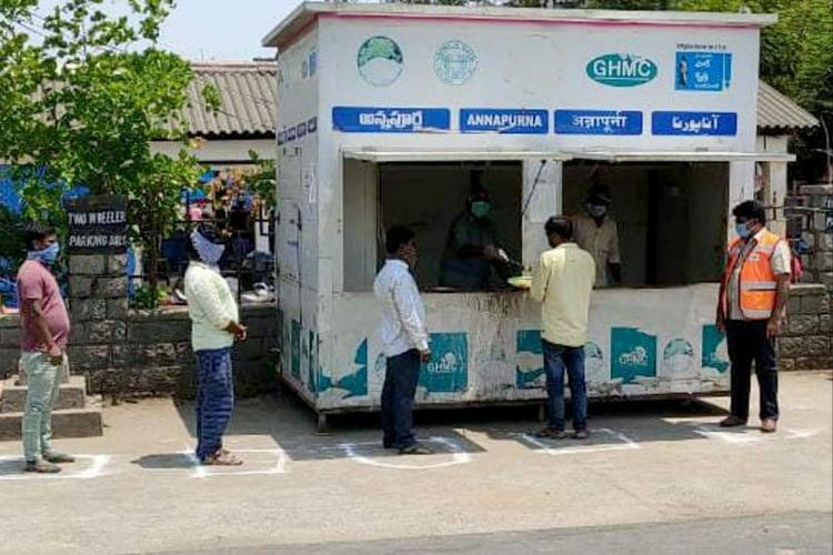 Hyderabad lockdown 250 Annapurna canteens to provide free meals to poor