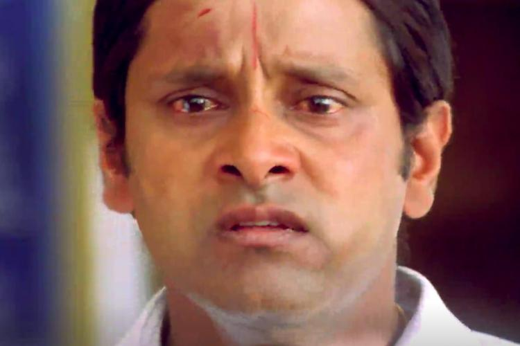 A close-up shot of actor Vikram as Ambi in the film Anniyan