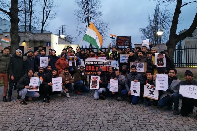 CAANRC colder than Poland Indians in Warsaw protest against citizenship law