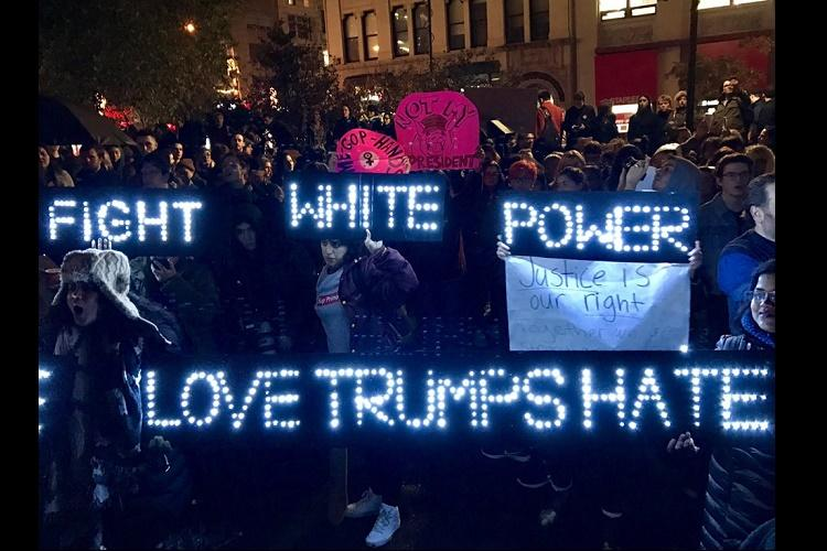 Day after elections divided America wakes up to protests violence