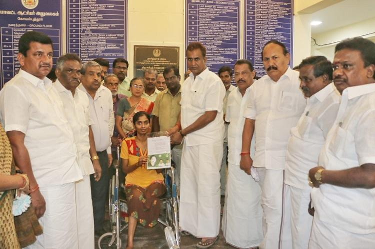 Coimbatore flag pole accident victim who lost her leg gets government job