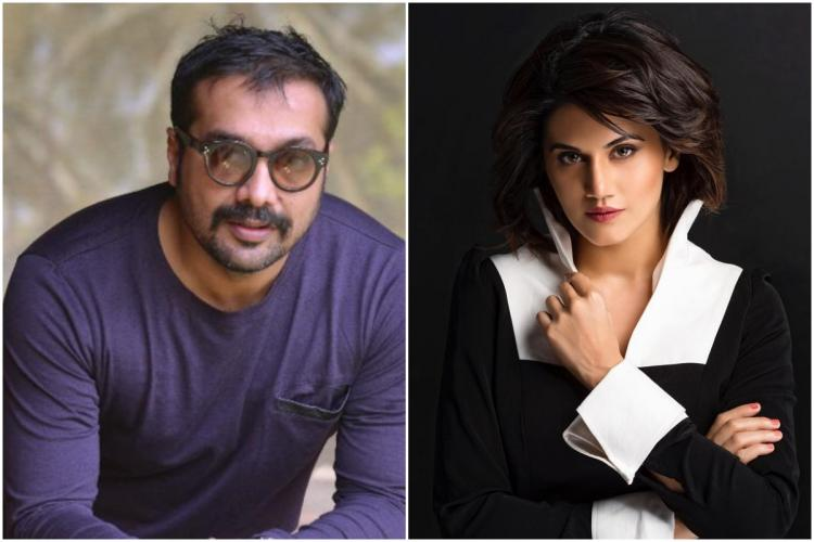 Collage of Anurag Kashyap and Taapsee Pannu
