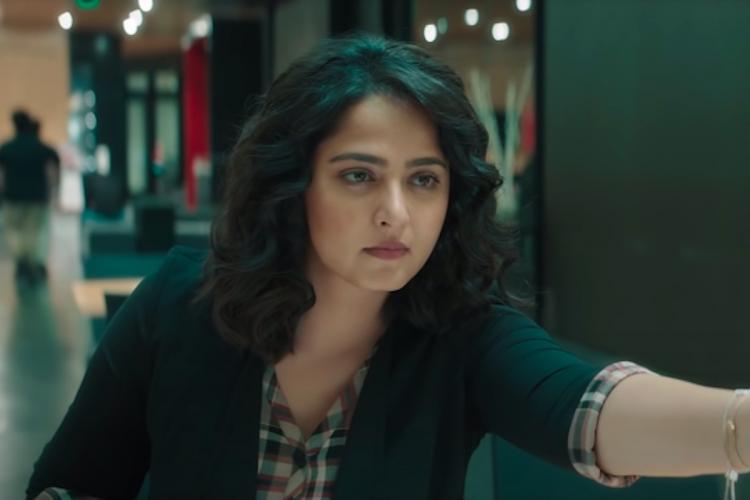 A screengrab of actor Anushka Shetty from the Telugu movie Nishabdham