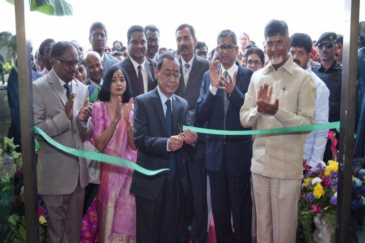 Chief Justice Ranjan Gogoi lays foundation stone for Andhra High Court in Amaravati