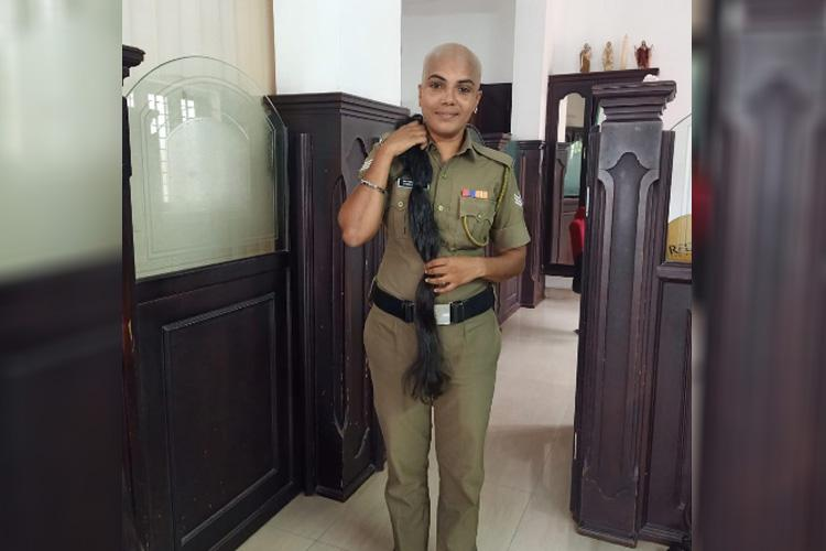 Meet the Kerala cop who donated her hair for cancer patients