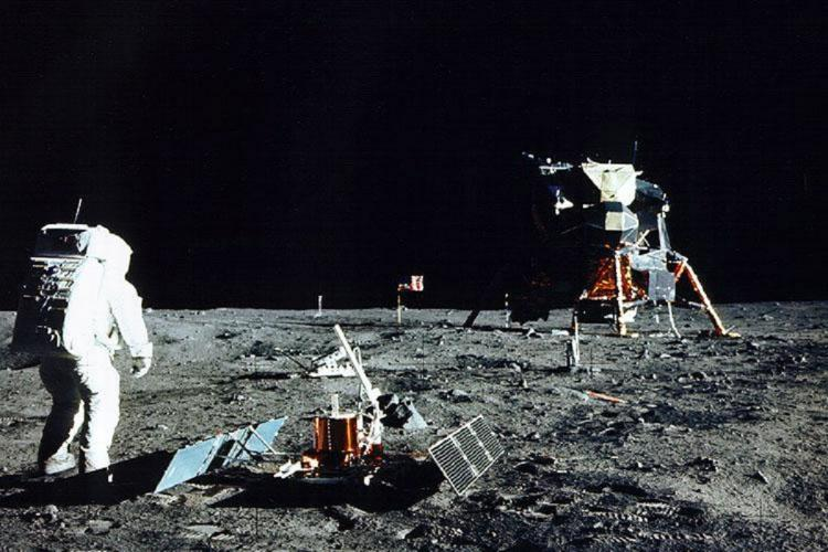 Apollo 11 after landing on the moon