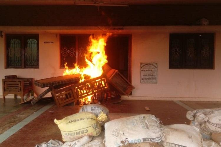 After murder of TDP MLA by Naxals agitated supporters set police stations on fire